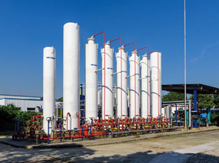 Hydrogen buffer tank