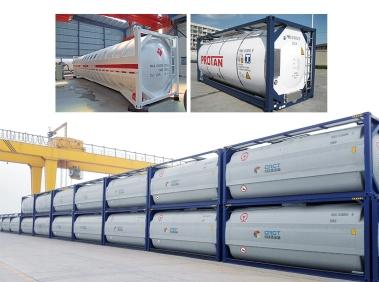 Cryogenic liquid tank container